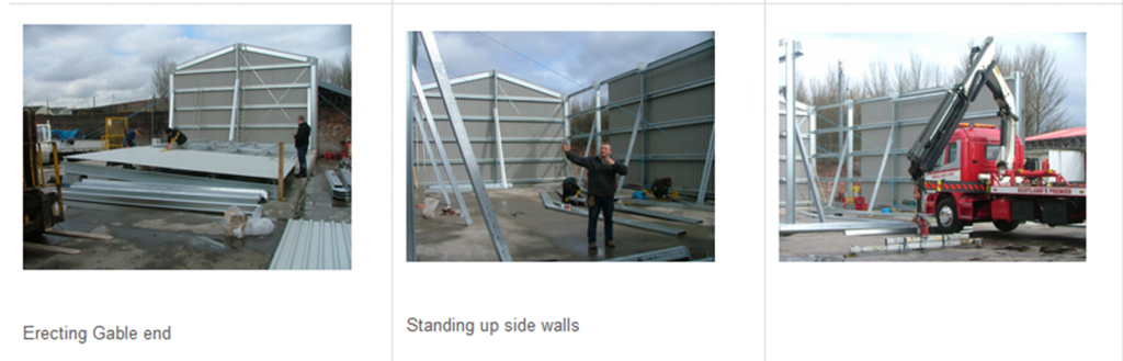 Putting up a steel building
